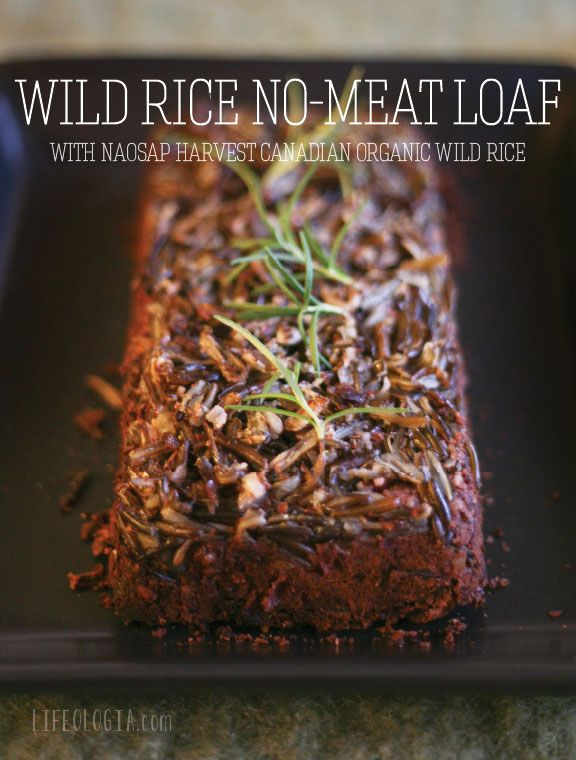 Wild rice no-meat loaf, perfect for your Thanksgiving menu!  #vegan #glutenfree #recipes