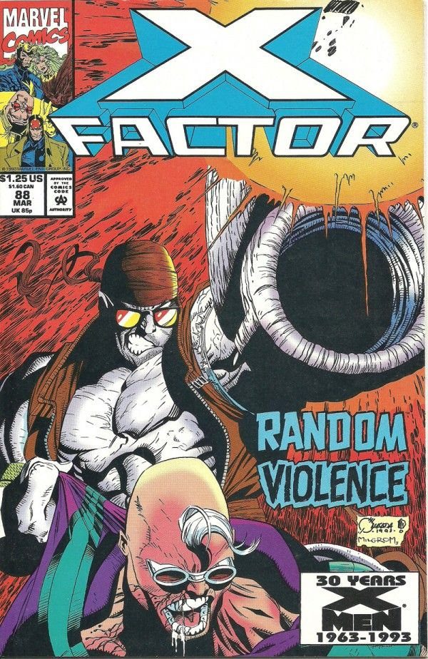 X-FACTOR - RANDOM VIOLENCE (Marvel Graphic Novel) - oComics   X-Factor battles Random for the rights of the X-Patriots. 1st Appearance of Random. Story by Peter David. Art and cover by Joe Quasada and Al Milgrom. Can X-Factor take down the walking weapon of mass destruction known as Random?   Read Now: http://ocomics.com/product-category/comics/marvel/  #marvel #comics #online #ocomics #XFactor