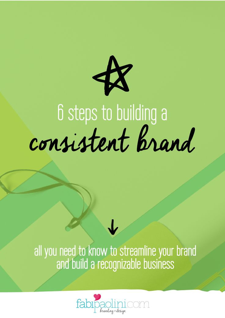 6 Steps To Building a Consistent Brand! All you need to know to streamline your brand and build a recognizable #business // Fabi Paolini