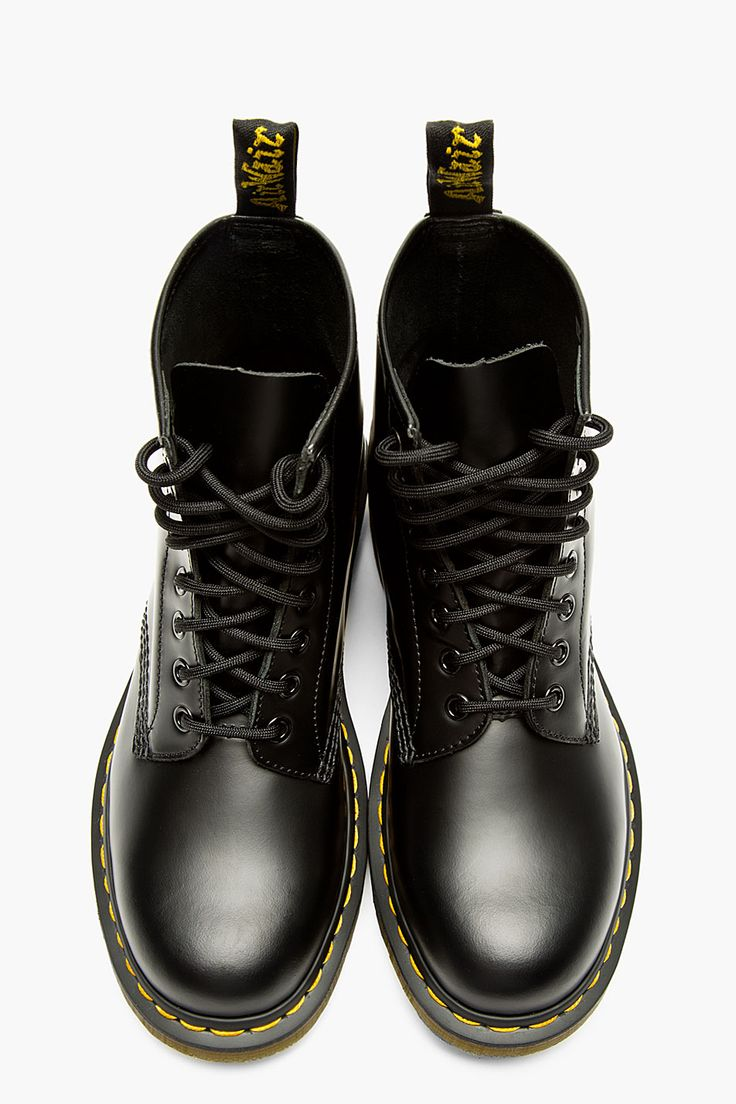 DR. MARTENS Black leather 1460 ORIGINALS 8-EYE BOOTs