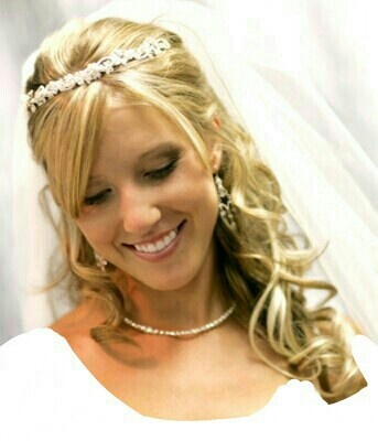 Pretty Wedding Hairstyle with Tiara