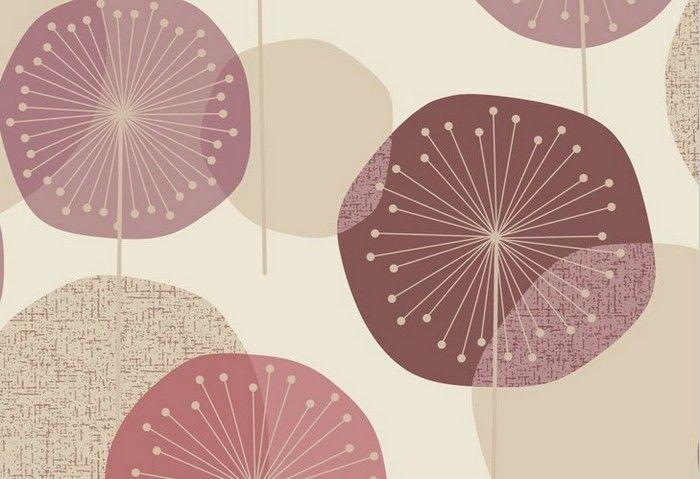 טפטים - ראשי פרחים סגול-ורוד