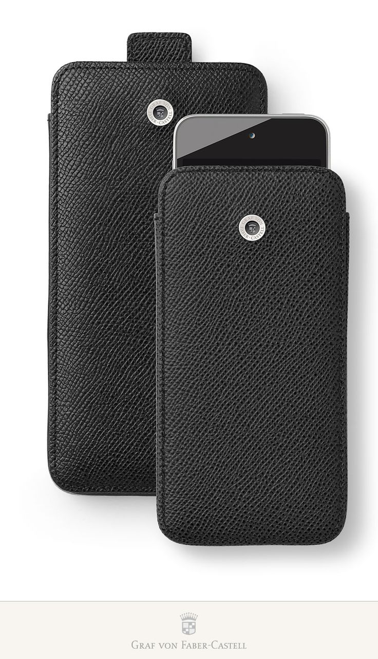 The elegant mobile phone cover is being launched in two sizes: One for the iPhone 6 and one for the iPhone 6+. This practical case protects the device with a padded inner lining. #iPhone6 #iPhone6Plus #leather #smoothmetalsurface #retinaHDdisplay #apple #accessoires