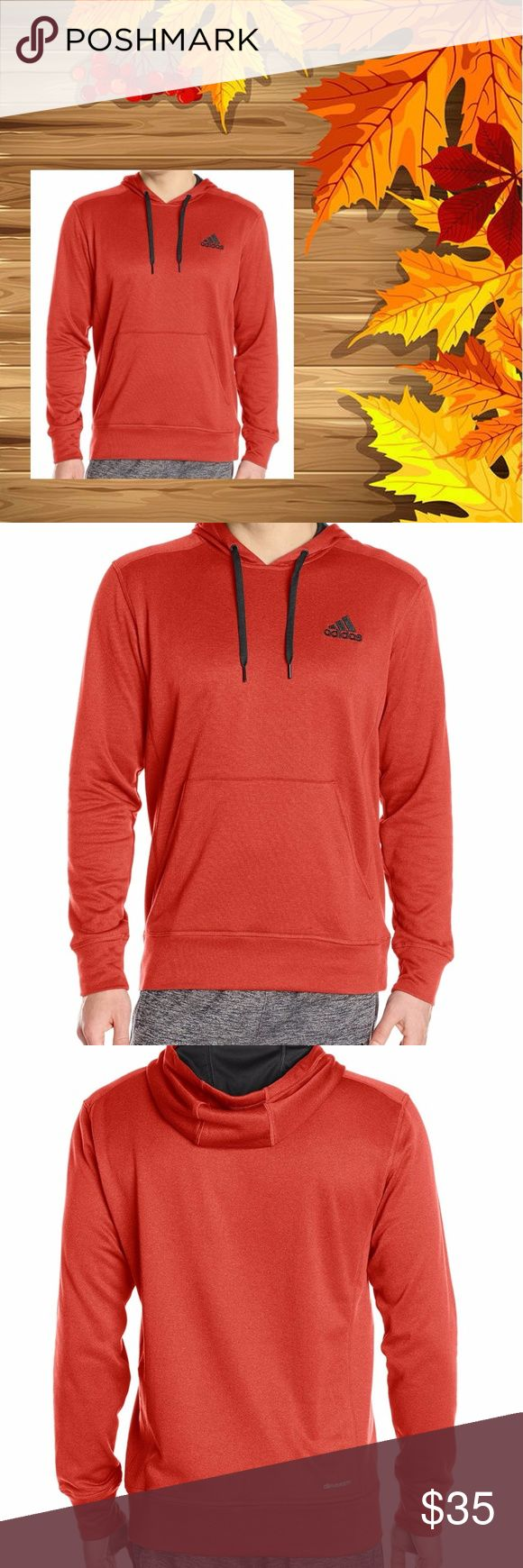 Adidas Hoodie M XL Go To Fleece Red Pullover New Adidas bright red Climawarm hoodie sweatshirt with black hood lining and ties. Long sleeves. NEW with Tags!  >>>Available in Large or Extra Large<<<  13x15 161120-2000-9 adidas Shirts Sweatshirts & Hoodies