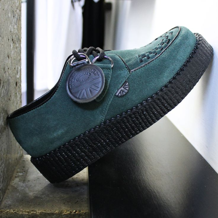 UNDERGROUND SHOES. The Original Wulfrun Creeper. Forest Green Suede Creeper Shoes.