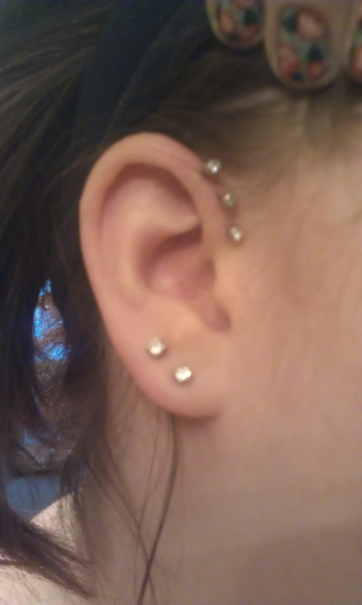 Ear Piercings - posts are way to large for this design