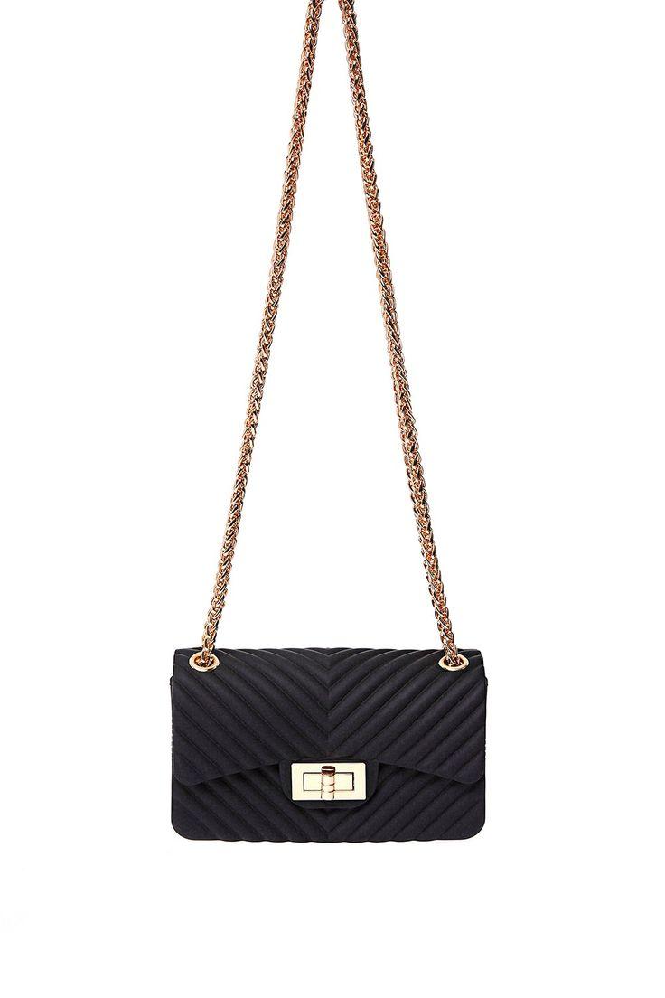 Caprice Black Small Chain Bag