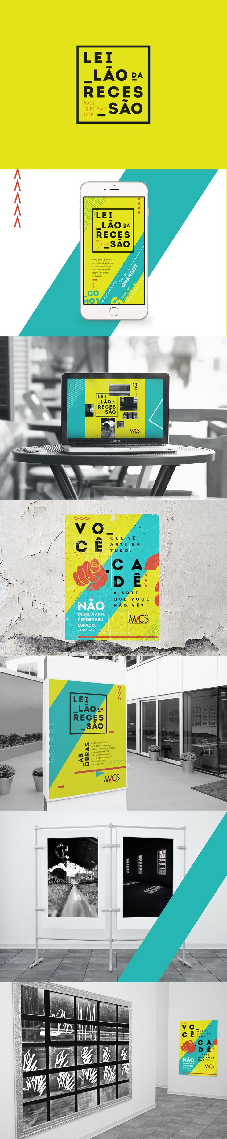 Criação de identidade para o Leilão de arrecadação de fundos para o Museu de Arte Contemporânea de Sorocaba.