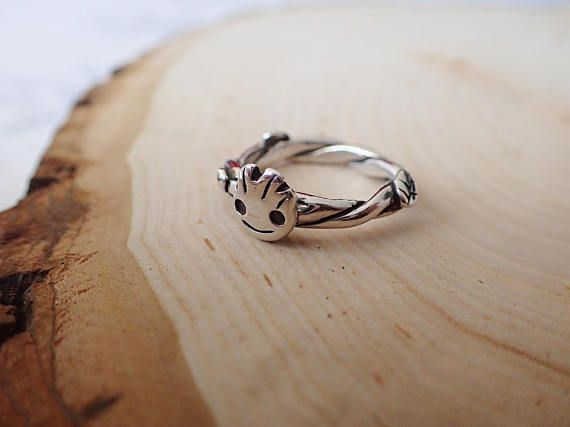 Galaxy Baby Groot inspired Silver Ring