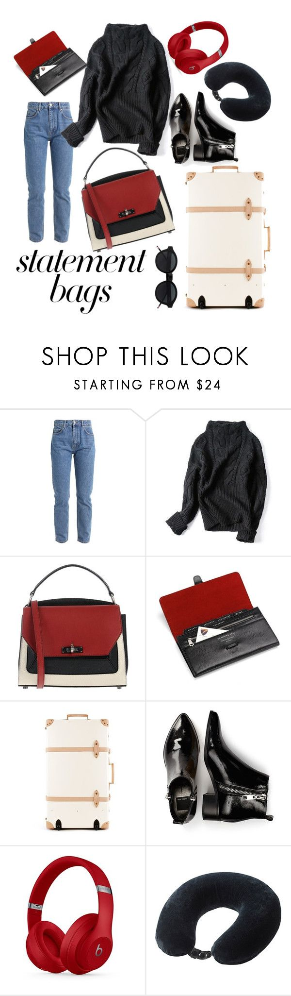"""Airport Style Statement Bag"" by alexia66 ❤ liked on Polyvore featuring Bally, Aspinal of London, Dolce Vita, Beats by Dr. Dre, Lewis N. Clark, airportfashion, sportchic, airportstyle and statementbags"