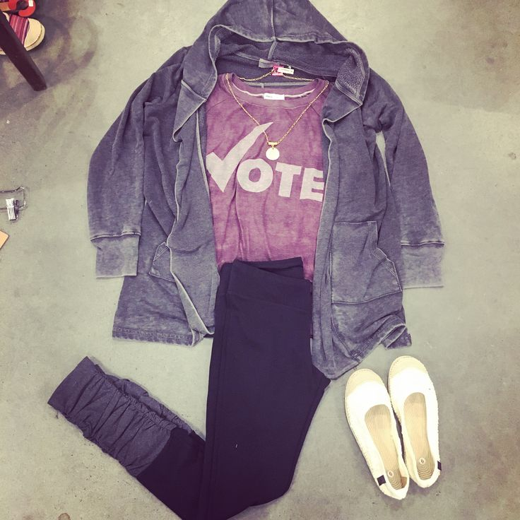 Purple power + new leggings = winning combo.
