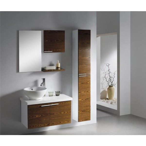 Moderna with Two Doors and Side Storage | Best Value Bathroom Furniture in Ireland.  Contemporary wall hung vanity with soft close doors and side cabinet.  Perfect for a medium to large sized bathroom.      Measurements  Description:  Dimension (MM): Main Cabinet760*420*610 Mirror400*20*700 Shelf400*150*30 Small Side Cabinet400*150*380 Large Side Cabinet  250*250*1600