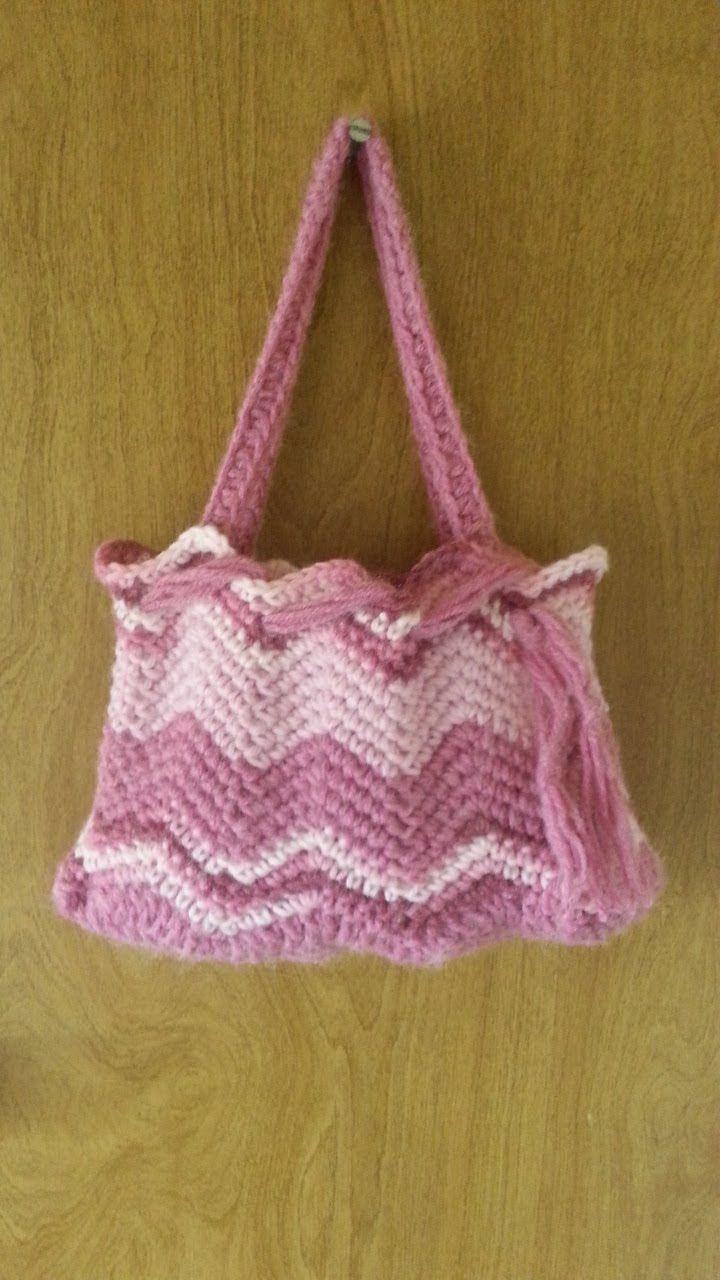 #Crochet Chevron Handbag Purse #TUTORIAL Affordable Handbags Crochet tut...