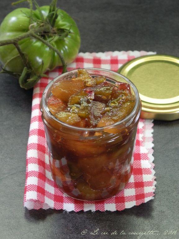 Voici une recette de fin de saison. Les tomates vertes de cette recette sont des tomates qui ne sont pas arrivées à maturité et non des green zebra ou autre variétés de tomates vertes mûres. ...