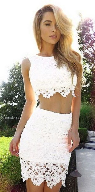 #summer #fashion / crochet crop top