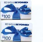 Two $100 Bed Bath & Beyond Gift Cards - Mail Delivery  $200 Total!!!