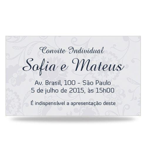 Convite Casamento - Arabesco Bandana - Individual