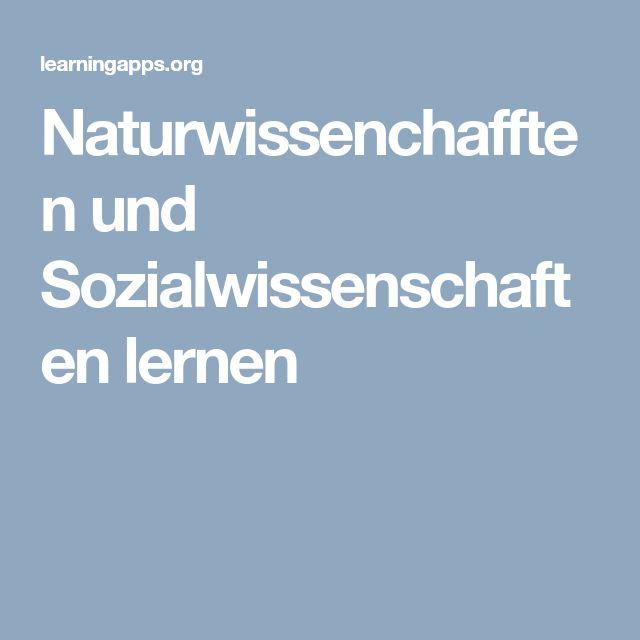Naturwissenchafften und Sozialwissenschaften lernen