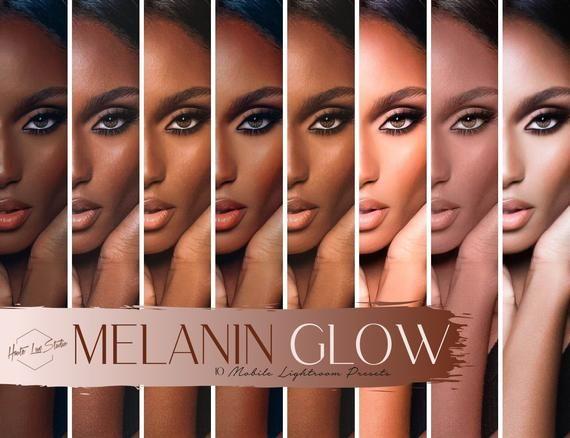 10 Melanin Glow Mobile Presets Dark Skin Brown Skin Preset Etsy Dark Brown Skin Colors For Skin Tone Black Skin Tones
