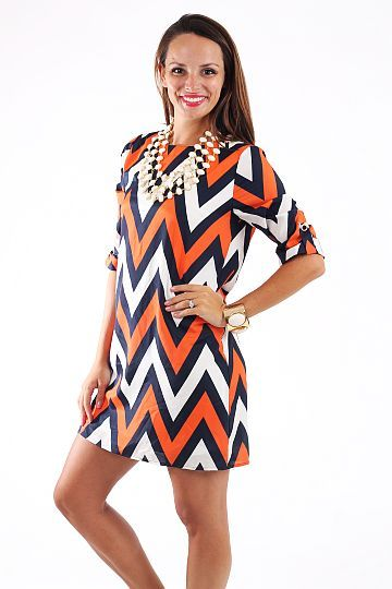 What A Catch Dress, navy/orange $45 www.themintjulepboutique.com