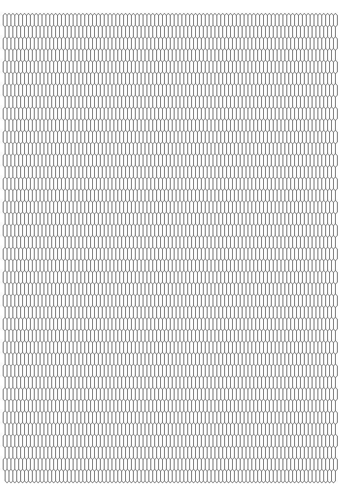 Blank Inkle weaving pattern chart