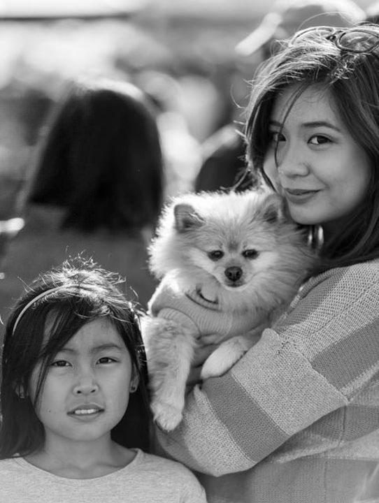 https://flic.kr/p/u3JPGc   Mother Daughter & Pup   Barrio Fiesta Brisbane 2015, celebrating Filipino culture and the people. This lady was so obliging as soon as the camera went up she motioned to her daughter for the photo.