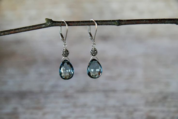 London blue topaz and sterling silver.