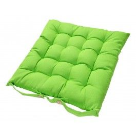 Cotton Lime Green Seat Pads with Ties