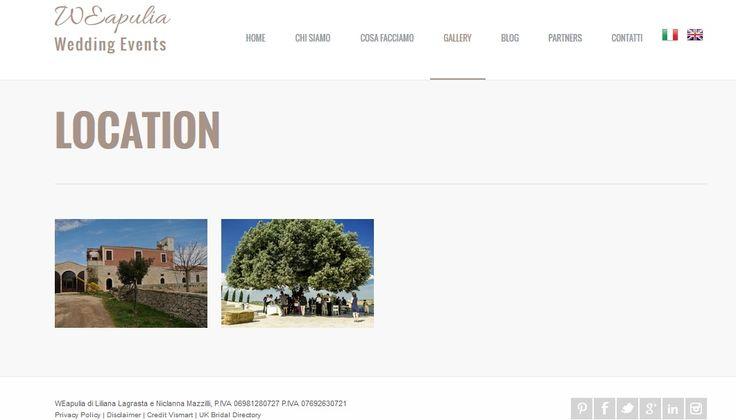 La nuova sezione del portale è completamente dedicata alle location!Let's us introduce the new gallery on the website completely focused on Apulian wedding venues! - http://www.weapulia.com/location.php
