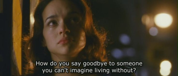 How do you say goodbye to someone you can't imagine living without ? - My Blueberry Nights