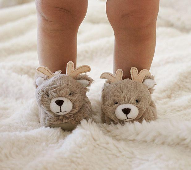 reindeer baby slippers