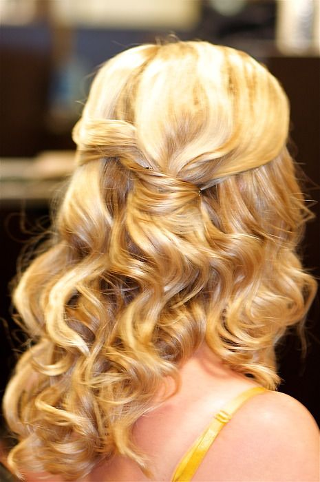 hair down & curly