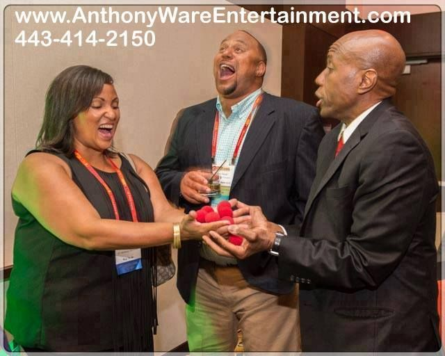 HIRE Magician Anthony Ware for your Company Anniversary He is a professional party magician in Baltimore, Maryland CALL (443) 414-2150 for bookings and inquiries!