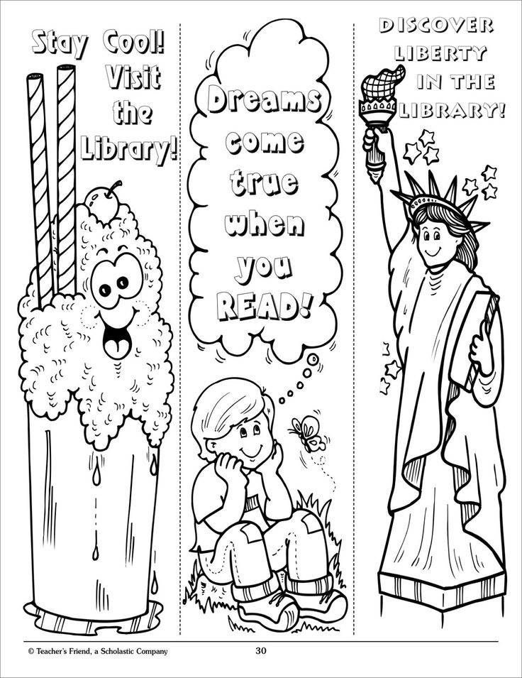 reading bookmark coloring pages google search