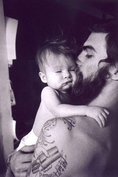 Sexy Beard and tattoo! Yes!: Baby Tattoo, Beards Men, Future Husband, Future Families, Real Men, Baby Daddy, Baby Faces, Beards Tattoo, Tattoo Baby