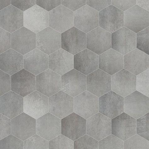 Prachtig gemeleerde zeshoekige tegels met beton look: deze tegels hebben onderling allemaal prachtige kleur verschillen waardoor een prachtige nuance ontstaat