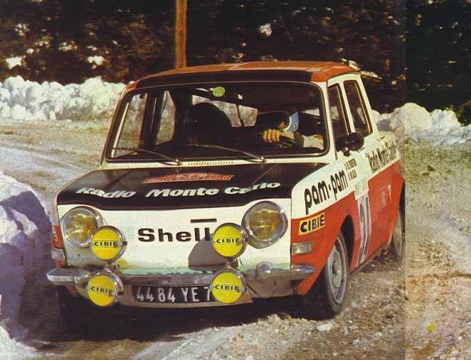 Simca rally Montecarlo