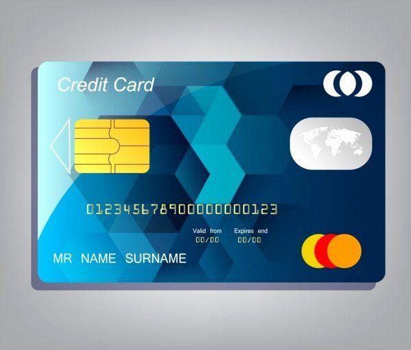 Credit Card Design Template Beautiful Credit Card Template Realistic Design Low Poly Background Credit Card Design Credit Card Hacks Free Credit Card