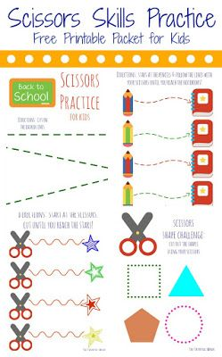 Free Printable Pages for Simple Scissors Practice for Preschoolers || The Chirping Moms