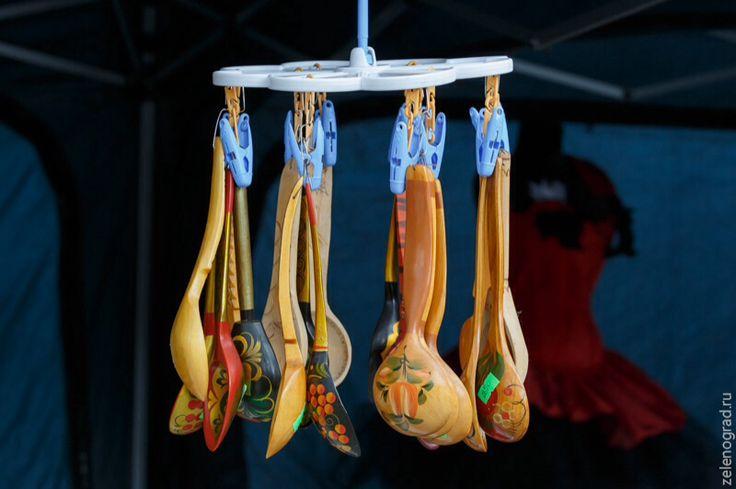 Этно-фестиваль в Зеленограде. Деревянные ложки.