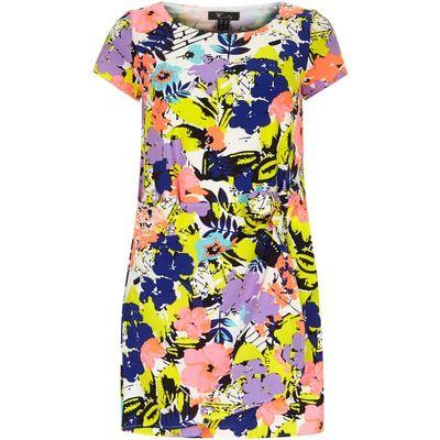 Dorothy Perkins Cutie Lavender Multi Colour Dress