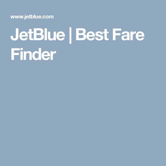 JetBlue | Best Fare Finder