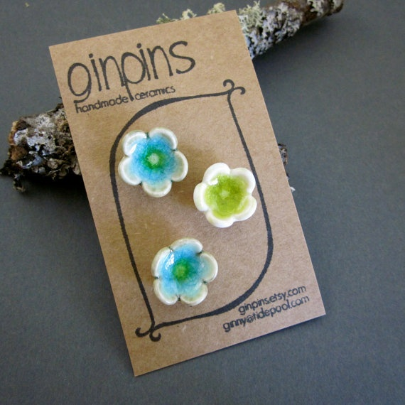 3 Scatter Pins - $18  ginpins etsy