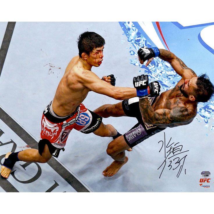 Takeya Mizugaki Ultimate Fighting Championship Fanatics Authentic Autographed 16'' x 20'' Knock Down Photograph