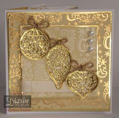 Card made using the Sara Signature Traditional Christmas range - Decorative Baubles dies and luxury paper pad - designed by Jo McKelvey #crafterscompanion #Christmas