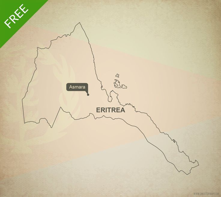 Free Vector Map of Eritrea Outline 227