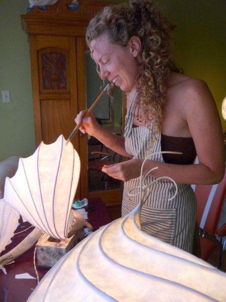 Benutzerdefinierte Lampe: Elegant und rustikal Lightsculpture (Lampe) mit Treibholz-Basis