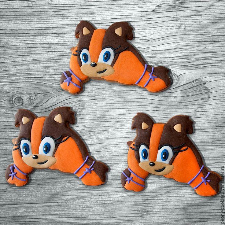 Купить Пряники персонажи мультфильма Соник бум - комбинированный, детский день рождения, сладкий стол, sonic, sonic hedgegog, sticks sonic, sticks, sega, sonic cookies