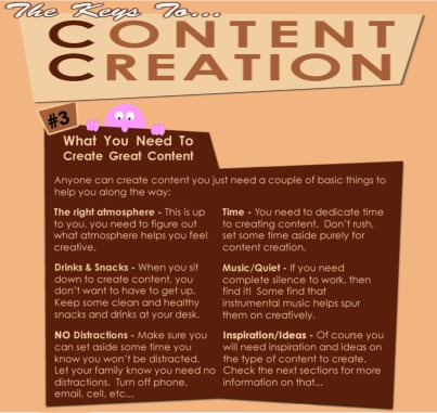 #3 - The Keys To Content Creation - What you need to create good 'original' content .. Visit Website SEO Chick FB page at www.facebook.com/...