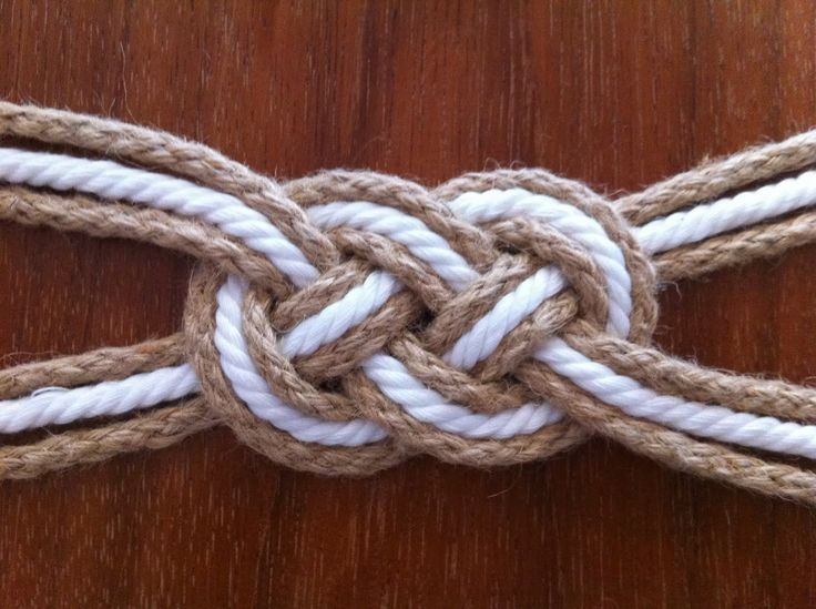 How to Tie Sailor Knots   tie your knot and adjust the cords in place